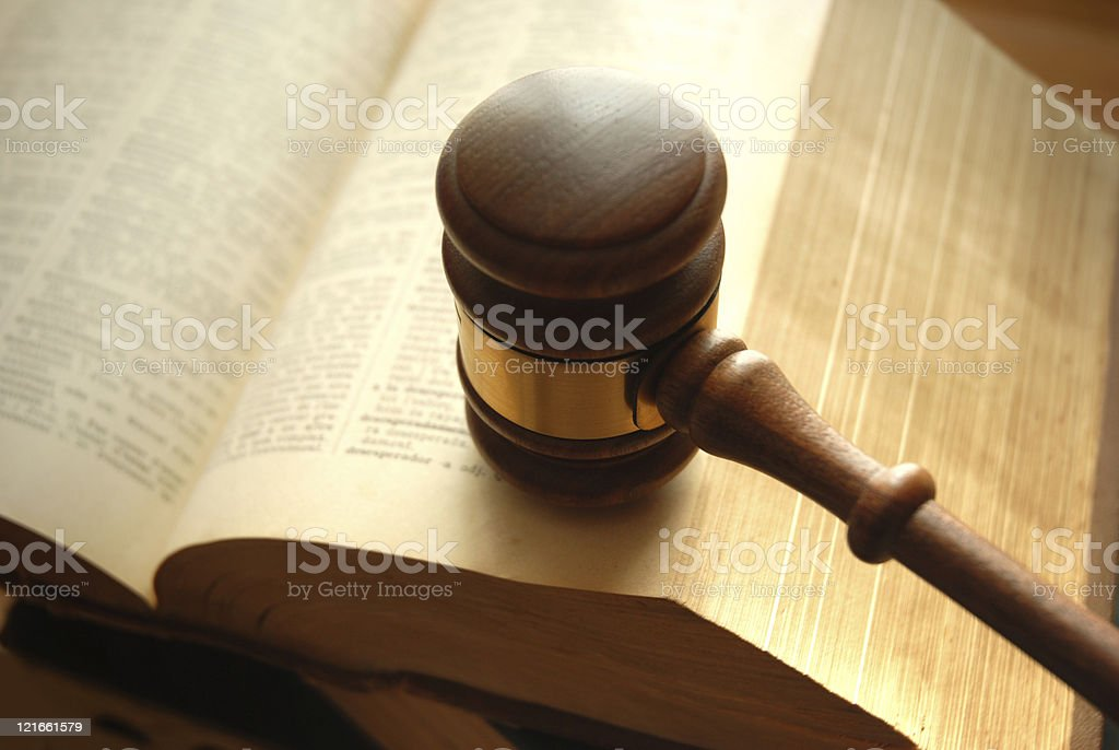 Book and gavel royalty-free stock photo