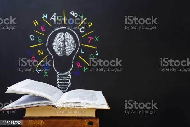 Book and light bulb drawing on blackboard back to school picture id1172942204?b=1&k=6&m=1172942204&s=612x612&h=xqcts4hlelhdc8l5ezvbusbz 2kfccqfh3mpfs09c9o=
