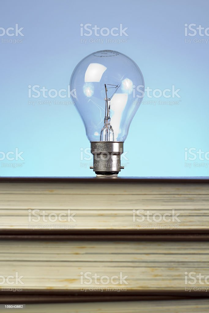book and light bulb royalty-free stock photo