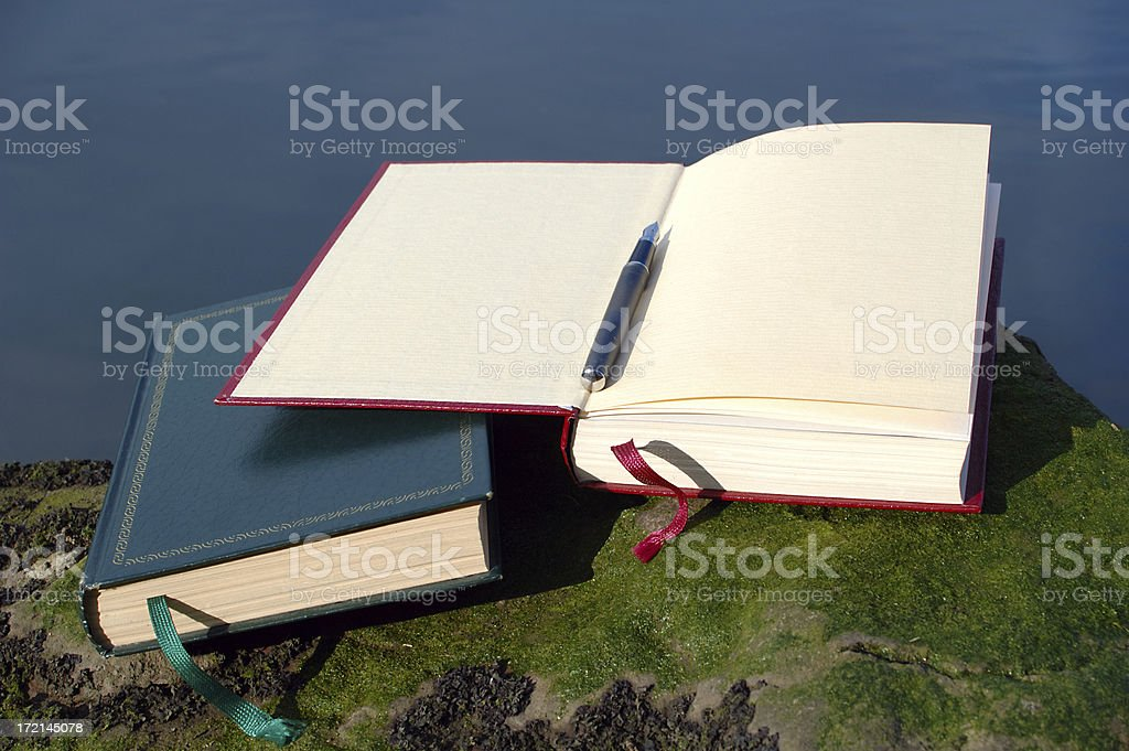 book and pen request royalty-free stock photo