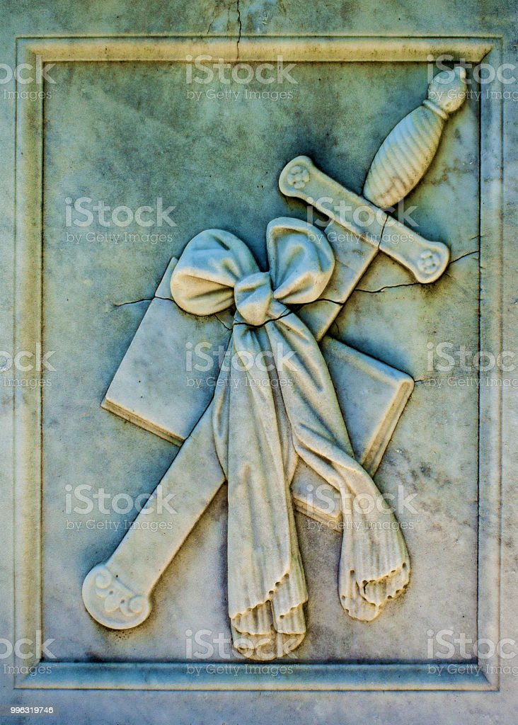 Book and Sword stock photo