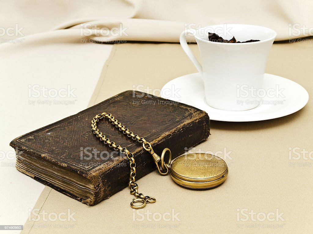 book and watch royalty-free stock photo