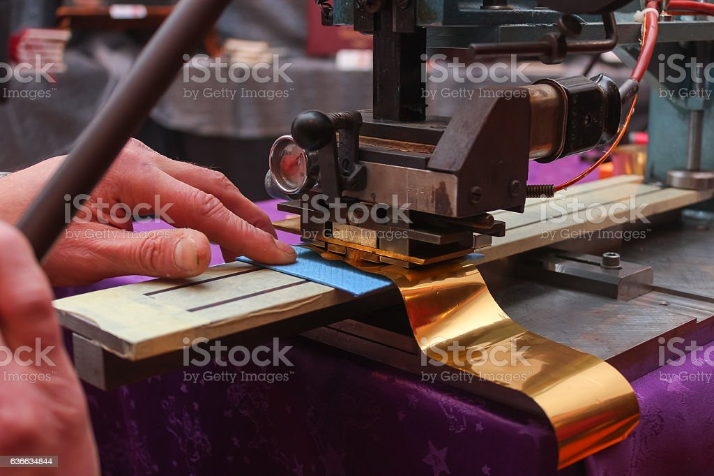 Book binder embossing paper card stock photo
