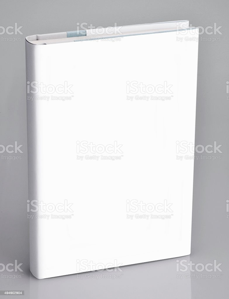 Book, blank book with white cover stock photo