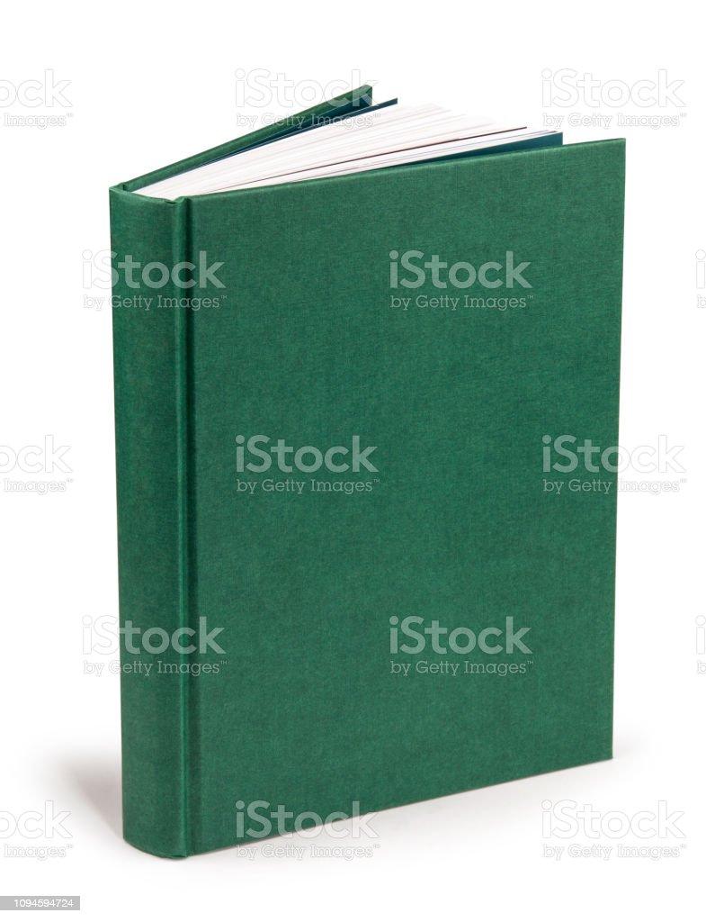 Buchen Sie leere grüne Hardcover - Clipping-Pfad – Foto