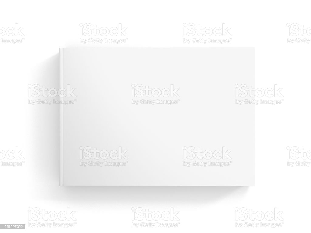 Book / Catalogue Mock-Up on Isolated White Background stock photo