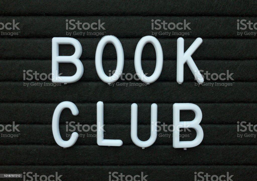 Book Club Notice Board stock photo