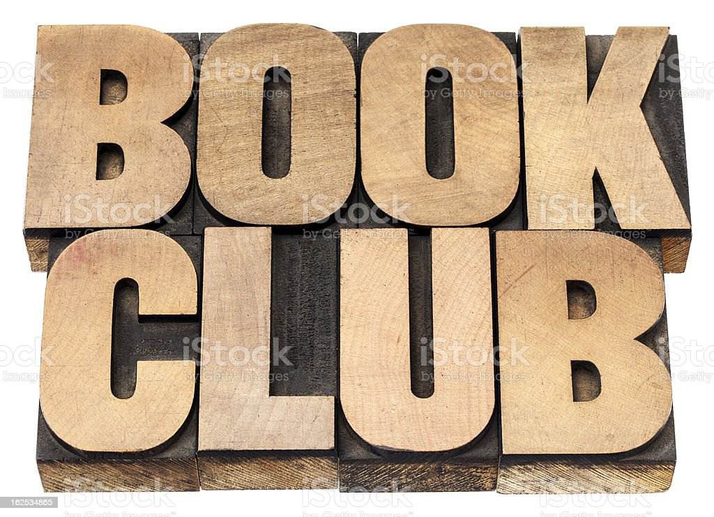 book club stock photo