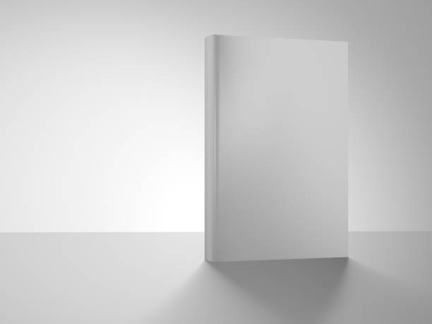 Book cover isolated on white background. Book cover isolated on white background. 3d illustration. Front. hardcover book stock pictures, royalty-free photos & images