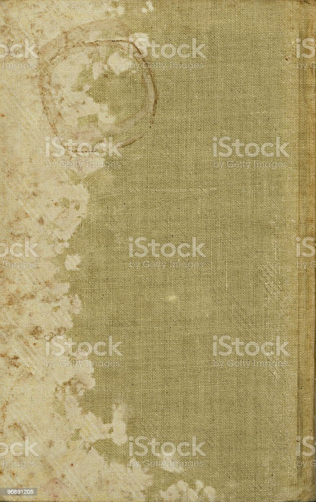 Book Cover With Stains royalty-free stock photo