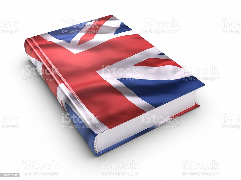 Book covered with British flag. royalty-free stock photo