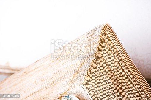 istock Book edge background 636518336