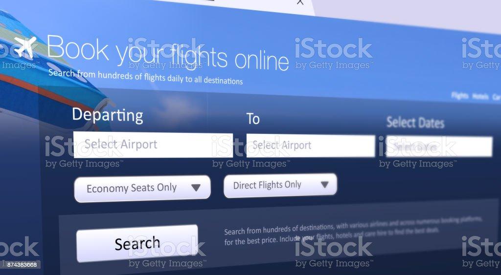 Book Flights Online stock photo