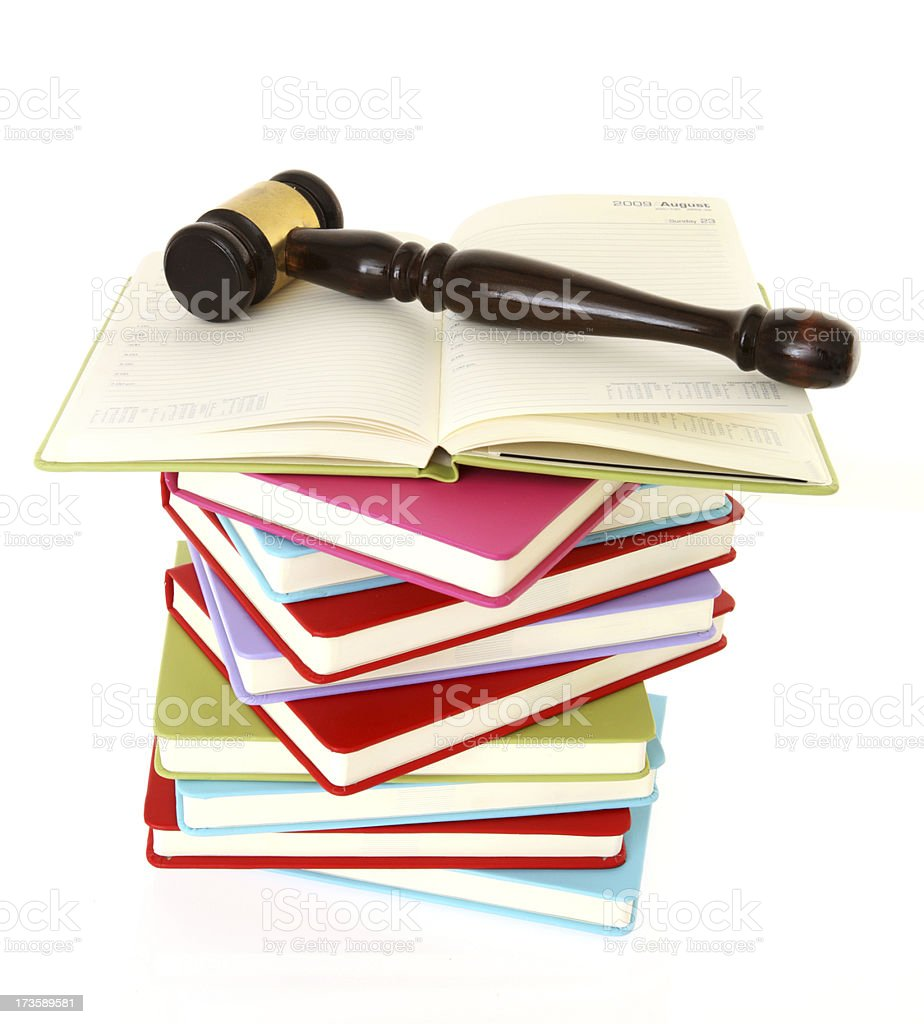 Book Gavel royalty-free stock photo