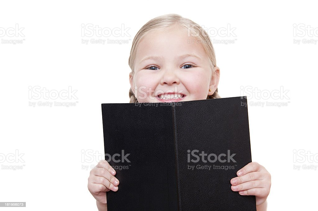 Book Girl royalty-free stock photo