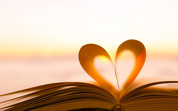 book heart - love stock photos and pictures