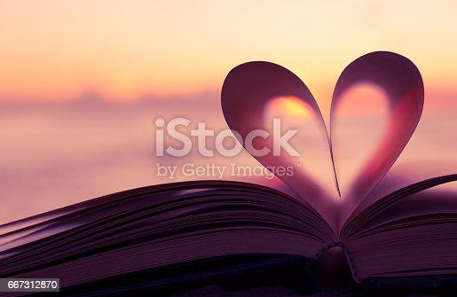 667312870 istock photo Book heart 667312870