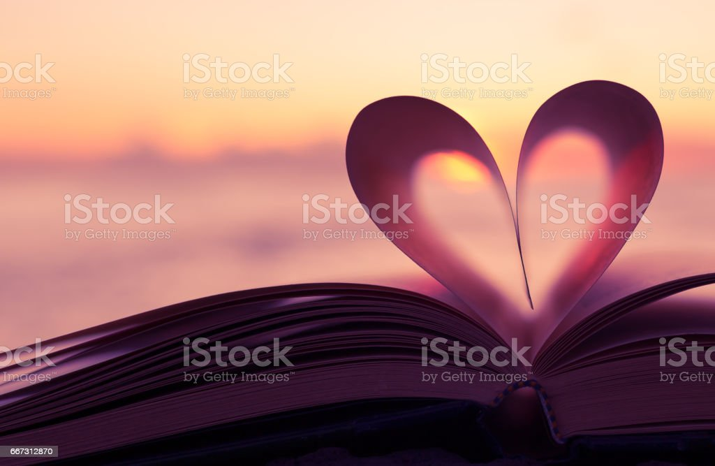 Book heart stock photo
