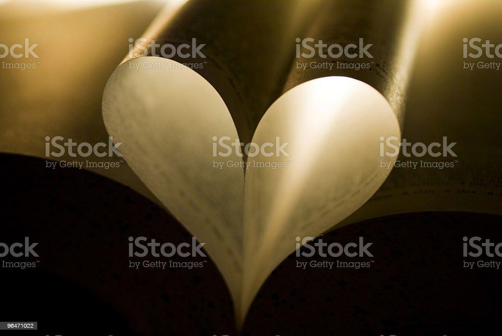 Book heart royalty-free stock photo