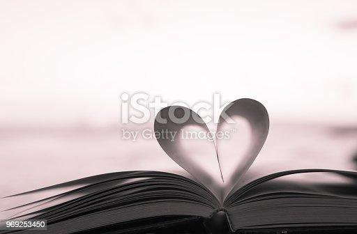 667312870istockphoto Book heart 969253450