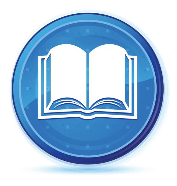 Book icon midnight blue prime round button – zdjęcie