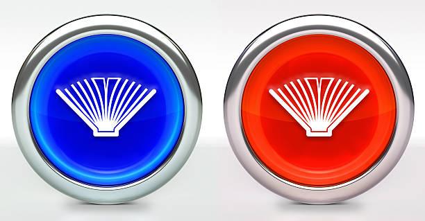 Book Icon on Button with Metallic Rim – zdjęcie