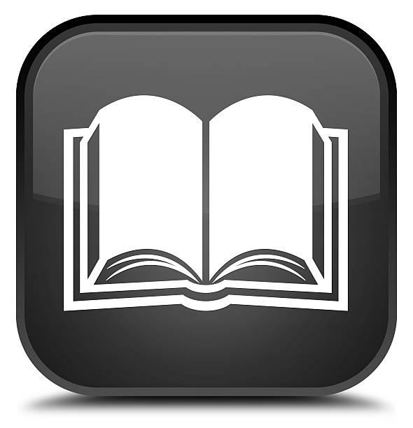 Book icon special black square button – zdjęcie