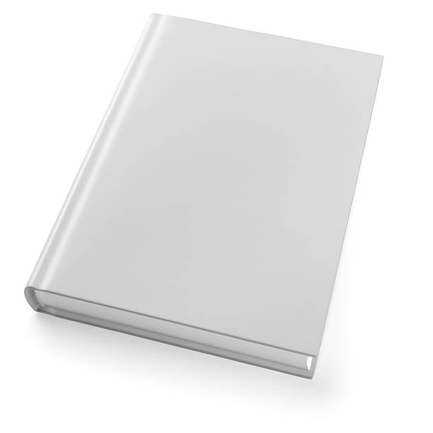 Book isolated on white Empty book template on white background. 3d modeling and rendering. Included clipping path hardcover book stock pictures, royalty-free photos & images