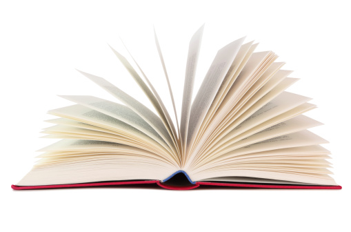 Book isolated on white background, inclusive clipping path without shade.