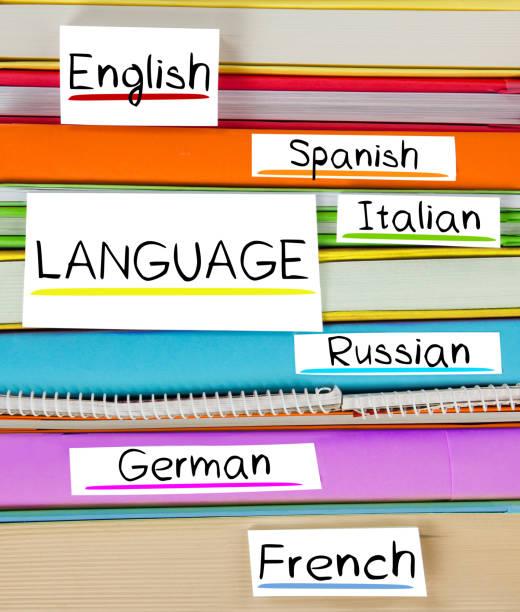 buch-label-konzept - spanisch translator stock-fotos und bilder