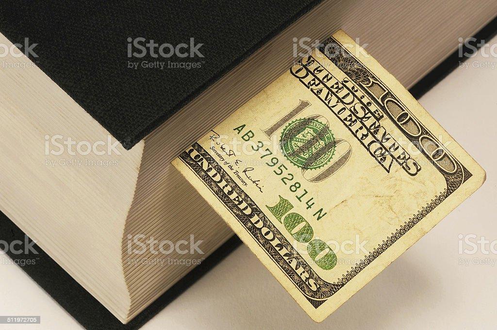 Book Money. stock photo