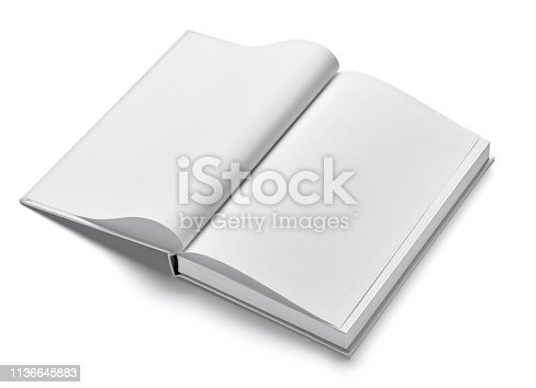istock book notebook textbook white blank paper template 1136645883