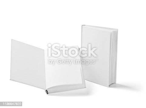 istock book notebook textbook white blank paper template 1136647622