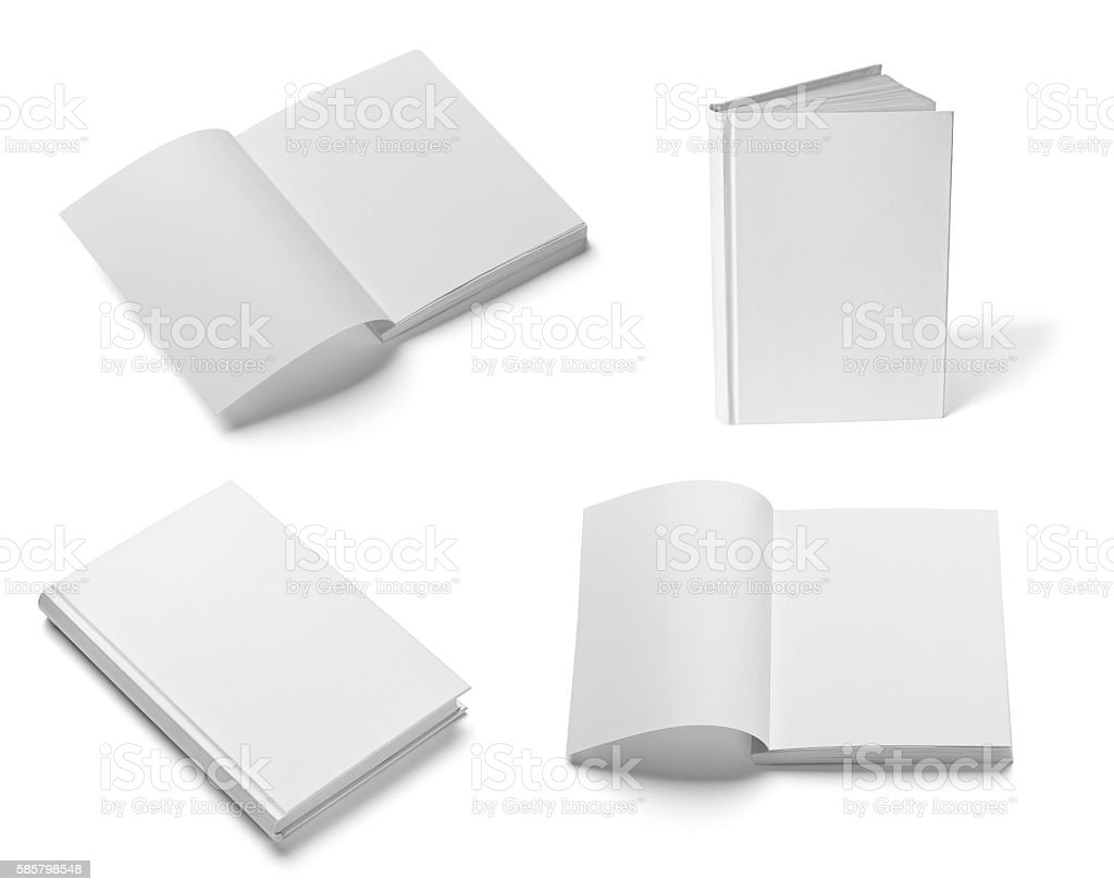 book notebook textbook white blank paper template stock photo