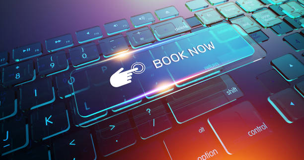 book now button on computer keyboard - wildlife reserve stock pictures, royalty-free photos & images