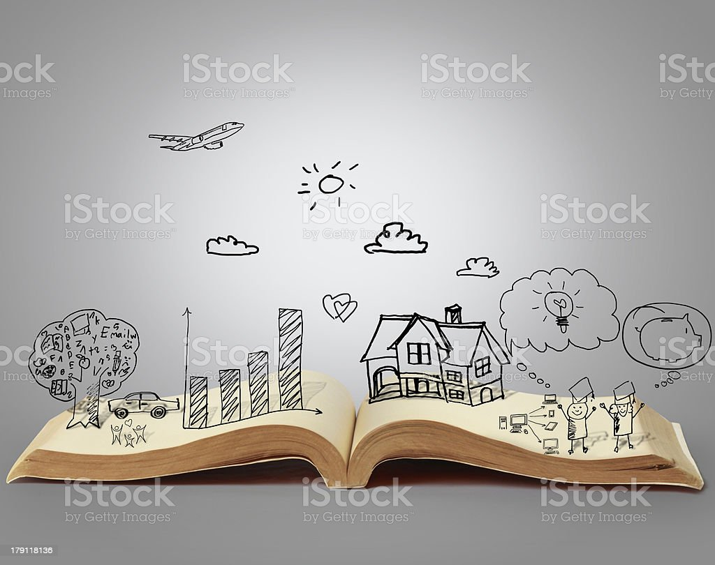 book of fantasy stories stock photo
