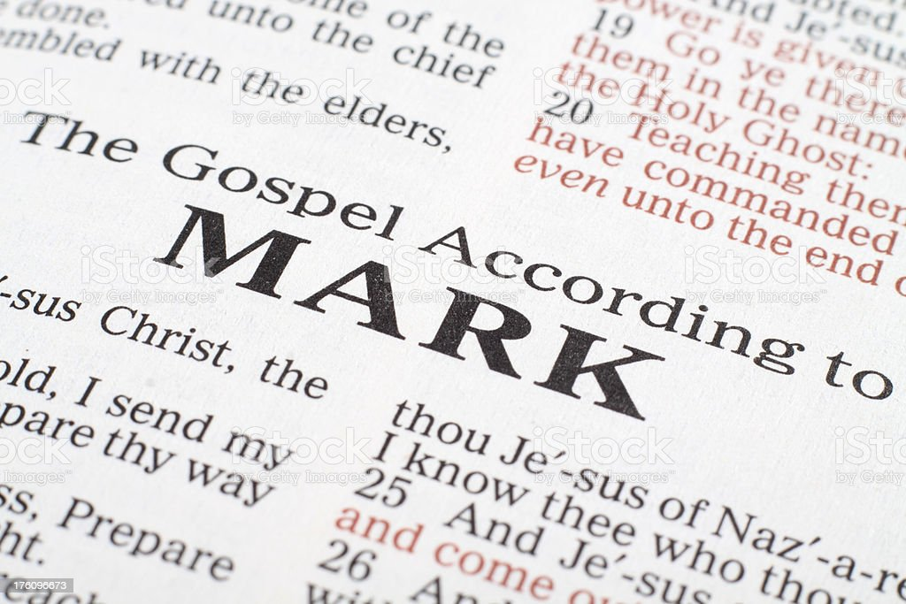 Book of Mark royalty-free stock photo