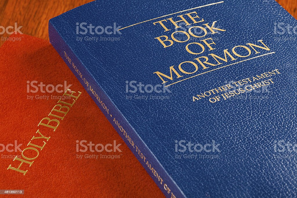 Book of Mormon and Bible royalty-free stock photo