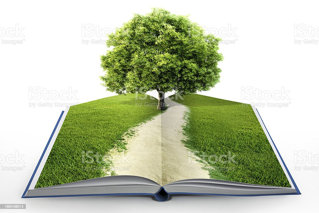 book of nature isolated on white royalty-free stock photo