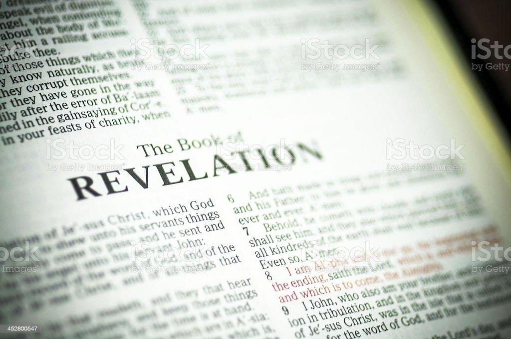 Book of revelation or the apocalypse. stock photo