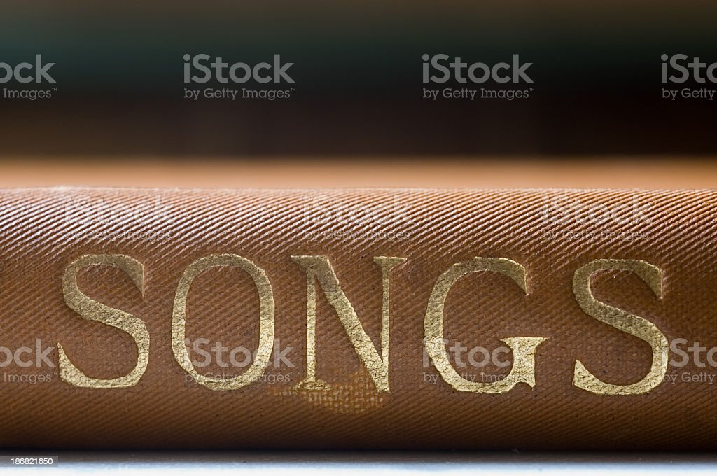 Book Of Songs stock photo
