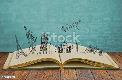 istock Book of travel 470266153
