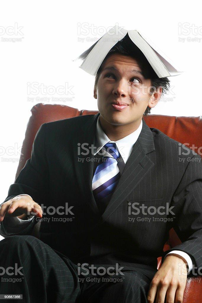 Book on head stock photo