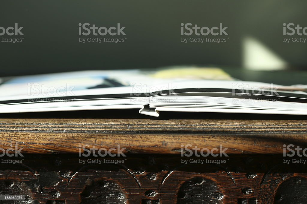 Book on old table royalty-free stock photo