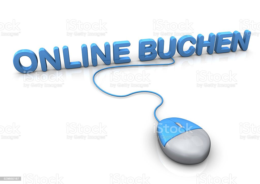 Book Online Mouse stock photo