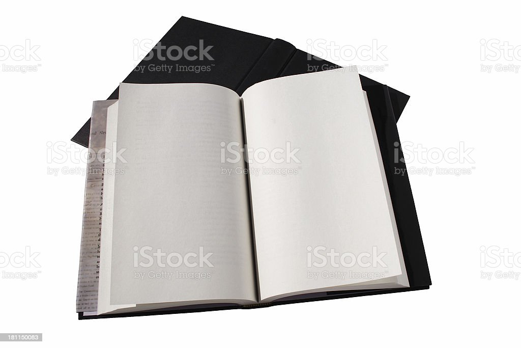 book, open ready to write on with clipping path royalty-free stock photo