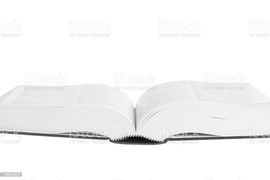 Book Open, White Background. royalty-free stock photo