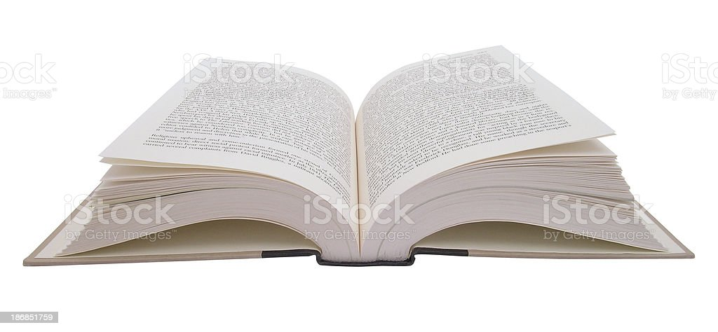 Book - open with clipping path royalty-free stock photo