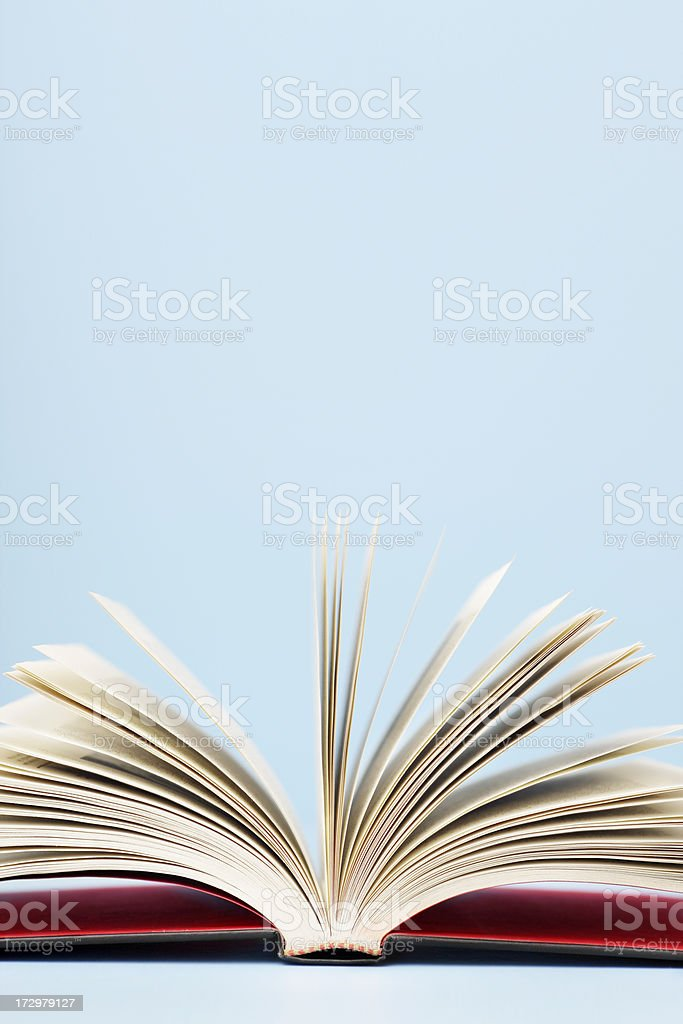 Book opened royalty-free stock photo