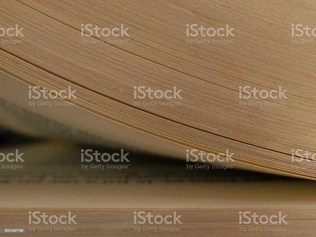 Book Page Being Opened stock photo